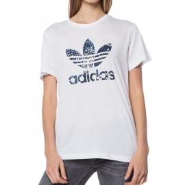 Tee-shirt Blanc Femme Adidas
