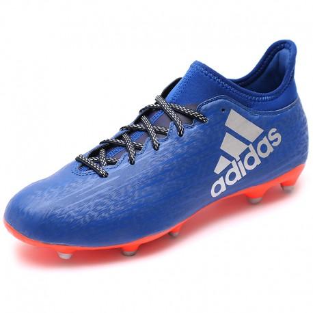 Chaussures X 16.3 FG Bleu Football Homme Adidas