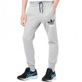 Pantalon Sweat Fleece Gris Garçon Adidas