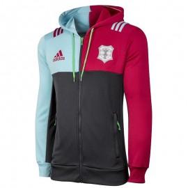 Sweat zippé Harlequins Rugby Gris Garçon Adidas