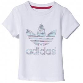 Tee-shirt Flower Bébé Fille Blanc Adidas