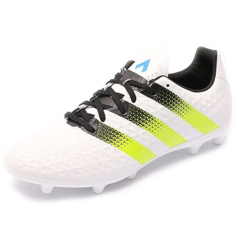 Chaussures Ace 16.3 FGAG Blanc Football Homme Adidas