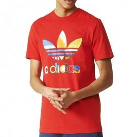 Tee-shirt Fresh trefoil Rouge Homme Adidas