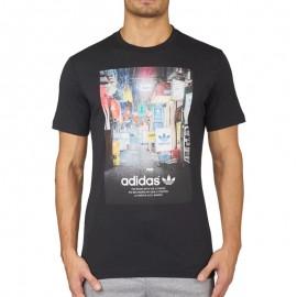 Tee-shirt Street Photo Noir Homme Adidas
