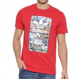 Tee-shirt Rouge Homme Adidas