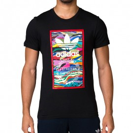 Tee-shirt Noir Homme Adidas