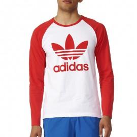 Tee-shirt Trefoil Blanc Homme Adidas