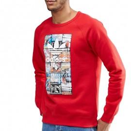 Sweat Crew Rouge Homme Adidas