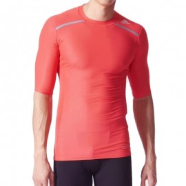 Tee-shirt de Compression Entrainement TF CHILL Rose Homme Adidas