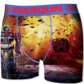 Boxer Transformers Orange Homme Freegun