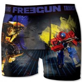 Boxer Transformers Bleu Homme Freegun