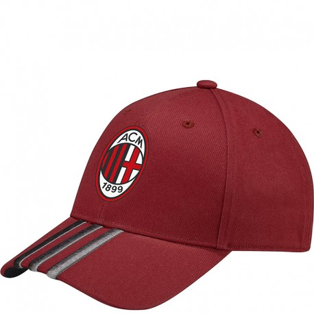 casquette milan ac football rouge homme adidas. Black Bedroom Furniture Sets. Home Design Ideas