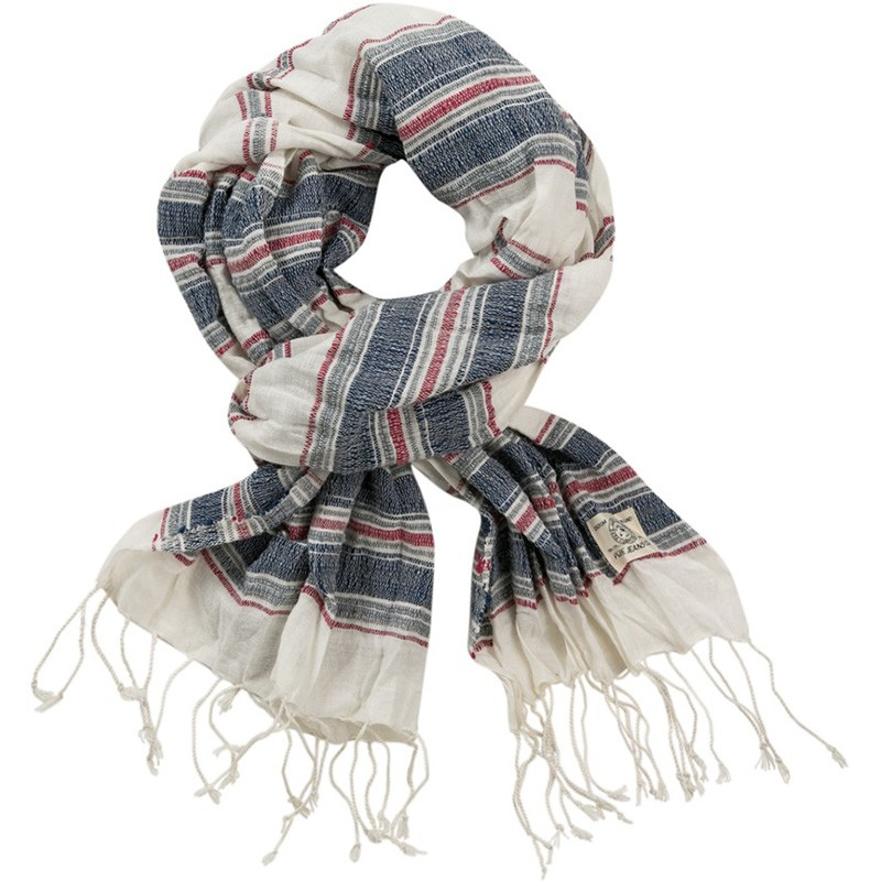 foulard en coton miles ecru homme p p jeans. Black Bedroom Furniture Sets. Home Design Ideas