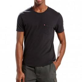 Tee-shirt Sunset Pocket Noir Homme Levi's
