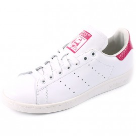 Chaussures Stan Smith Blanc Rose Femme/Homme Adidas