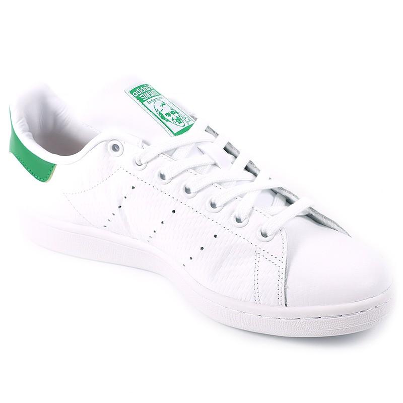 chaussures stan smith blanc vert homme gar on adidas. Black Bedroom Furniture Sets. Home Design Ideas