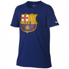 Tee shirt Crest Fc Barcelone Football Bleu Homme Nike