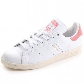 Chaussures Stan Smith Blanc Rose Homme Adidas