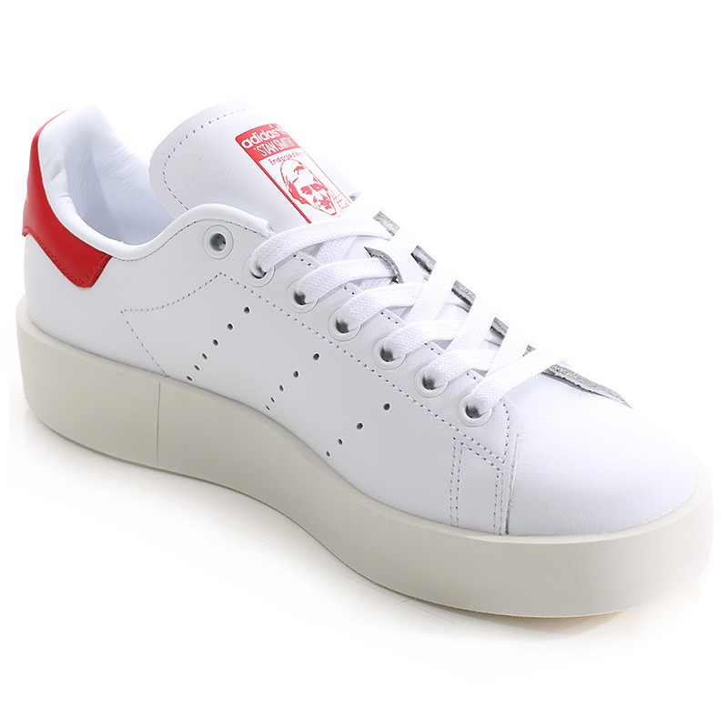 chaussures stan smith bold blanc rouge femme adidas ebay. Black Bedroom Furniture Sets. Home Design Ideas