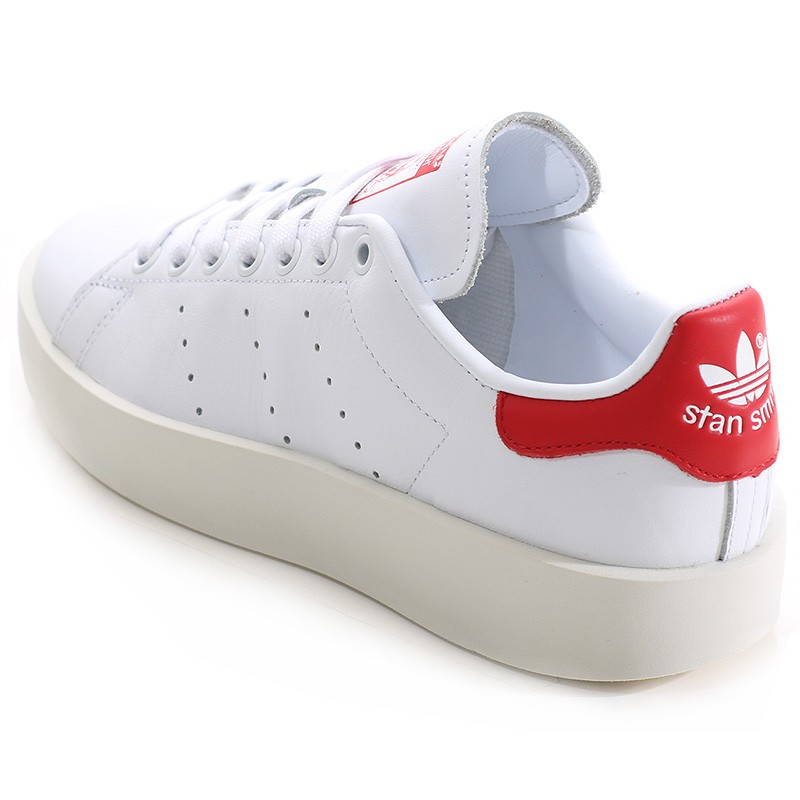 adidas stan smith femme blanc rouge
