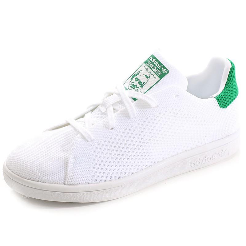 75ab2d354087a Chaussures Stan Smith Primeknit Blanc Vert Garçon Fille Adidas