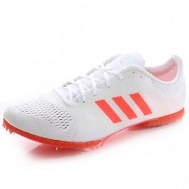 Chaussures Adizéro Middle Blanc Rouge Athlétisme Femme Homme Adidas