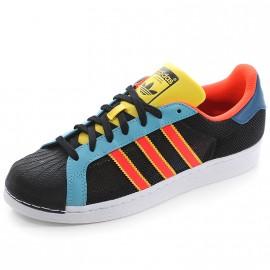 Chaussures Superstar Noir Bleu Homme Garçon Adidas