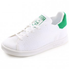 Chaussures Stan Smith Primeknit Blanc Vert Garçon Fille Adidas