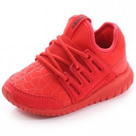 Chaussures Tubular Radial EL Rouge Garçon Adidas
