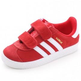 Chaussures Gazelle 2 CF Rouge Garçon Adidas