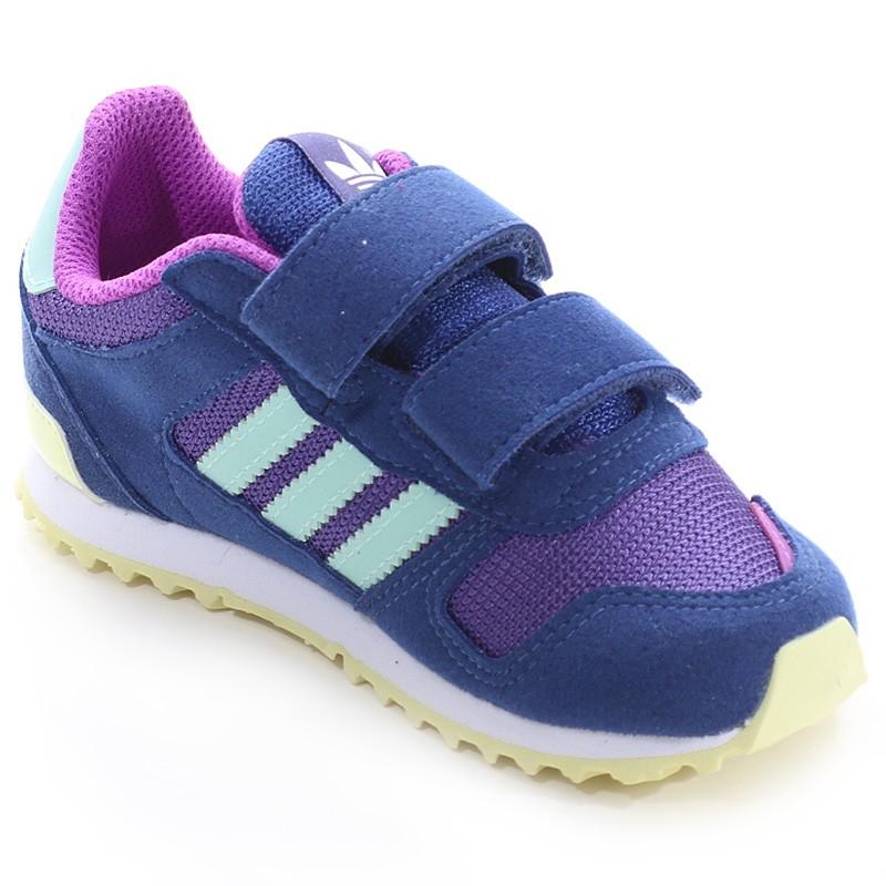 Chaussures ZX 700 CF Bleu Fille Garçon Adidas