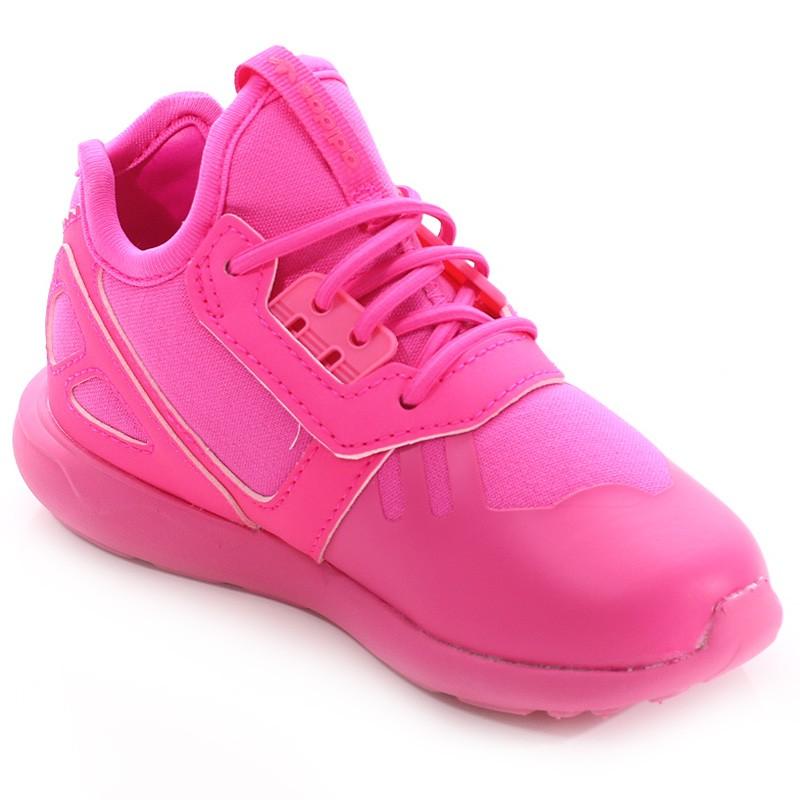 new product 95de1 2aae1 Chaussures Tubular Runner EL Rose Fille Adidas  eBay