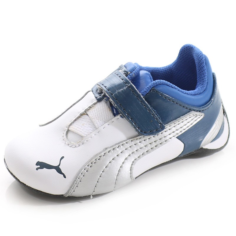 Chaussures Future Cat M2 Blanc Bleu Bébé Garçon Puma