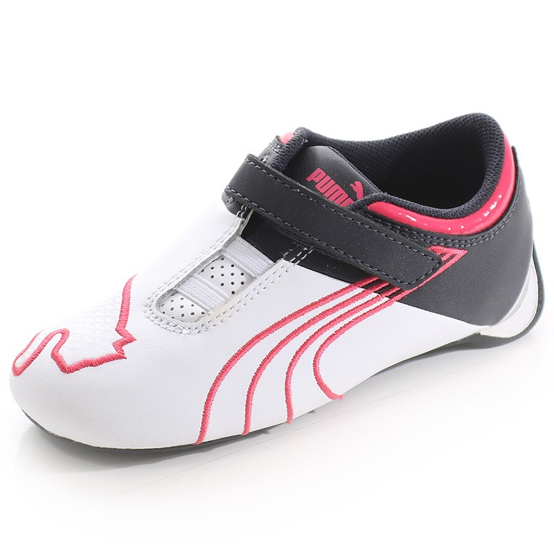 d784fa2bd8975 Chaussures Future Cat Big M1 Blanc Rose Bébé Fille Puma