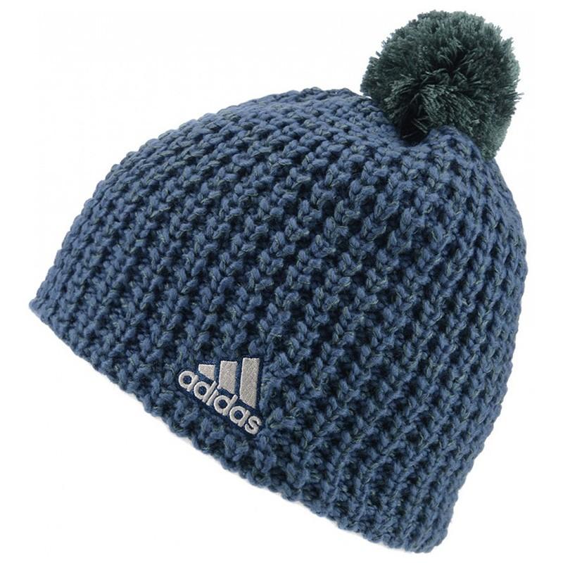 Femme Bleu Adidas Bonnet Tricot l1TFKJc3