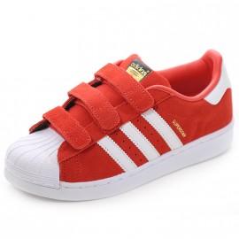Chaussures Superstar Rouge Garçon Fille Adidas