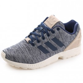 Chaussures ZX Flux Gris Bleu Homme Adidas