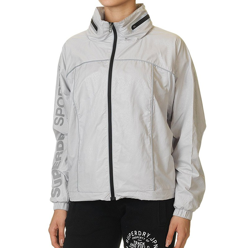 Coupe-vent Gym Running Gris Femme Superdry