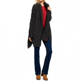Gilet Haden Cable Gris Femme Superdry