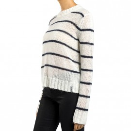 Pull Nordic Mohair Blanc Femme Superdry