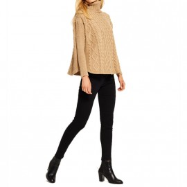 Pull Cable Cape Jumber Marron Femme Superdry