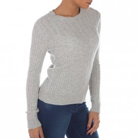 Pull Luxe Mini Cable Gris Femme Superdry