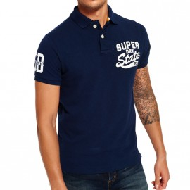 Polo Super State Marine Homme Superdry