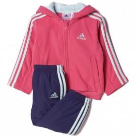 Survêtement Polaire Rose Bébé Fille Adidas