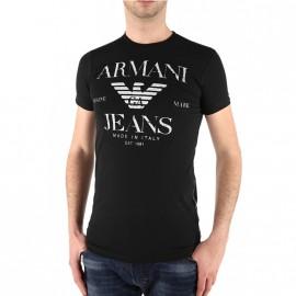 Tee Shirt Slim Noir Homme Emporio Armani