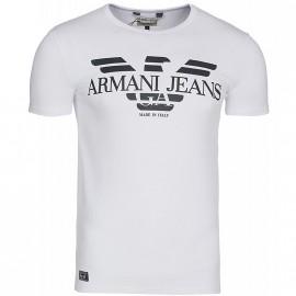 Tee Shirt Slim Blanc Homme Emporio Armani