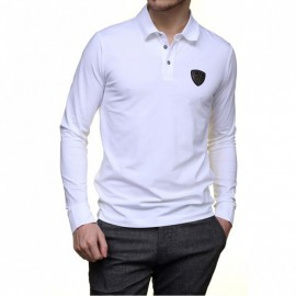 Tee Shirt Manches longues Blanc Homme Emporio Armani