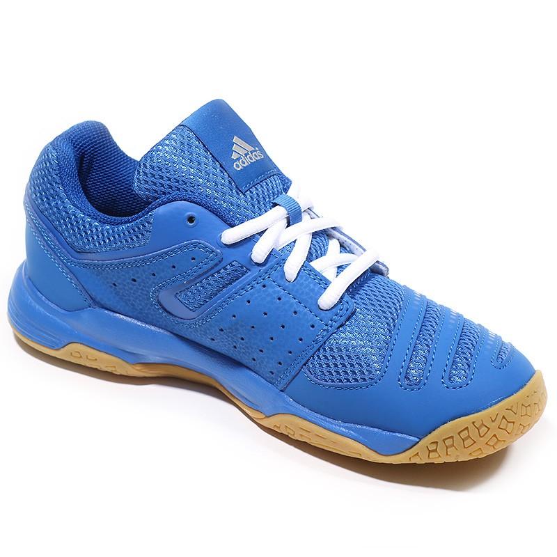 Chaussures Court Stabil Bleu Handball Garçon Adidas