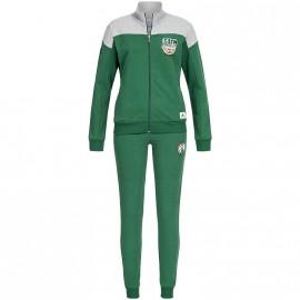 Survêtement en Coton Boston Celtics Basketball Vert Garçon Adidas