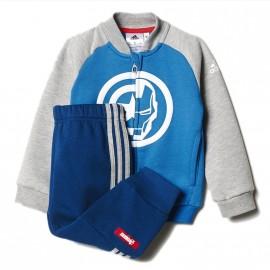 Survêtement Avengers Bleu Bébé Garçon Adidas